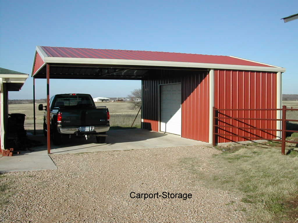 Carport metal carport with storage for Shed with carport attached