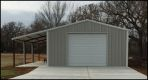 Garage with Awning